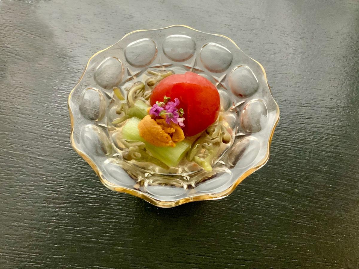夏のレシピ:お出汁香るトマト