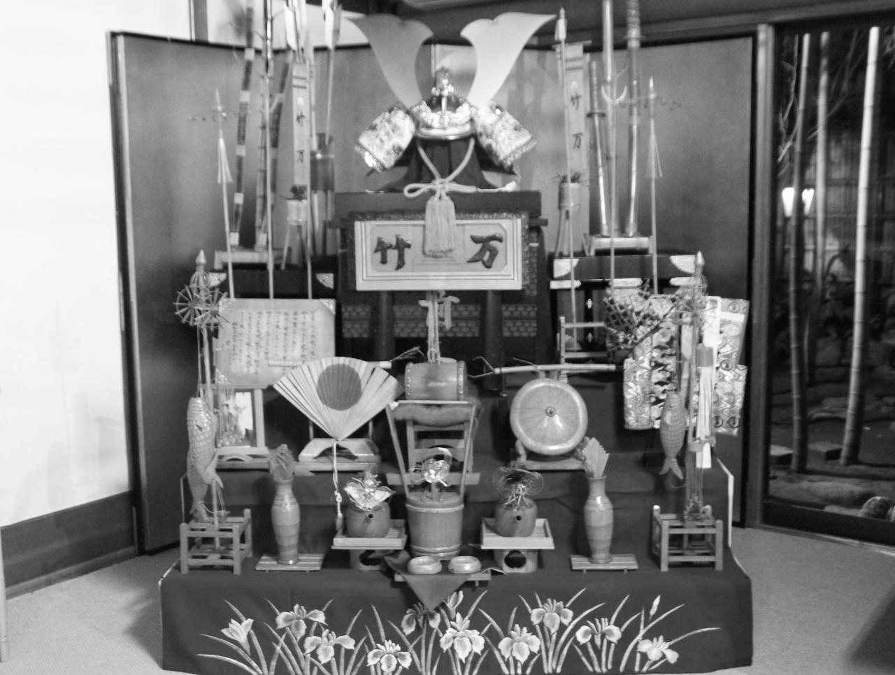 「竹の節供飾り」竹翁万吉製作