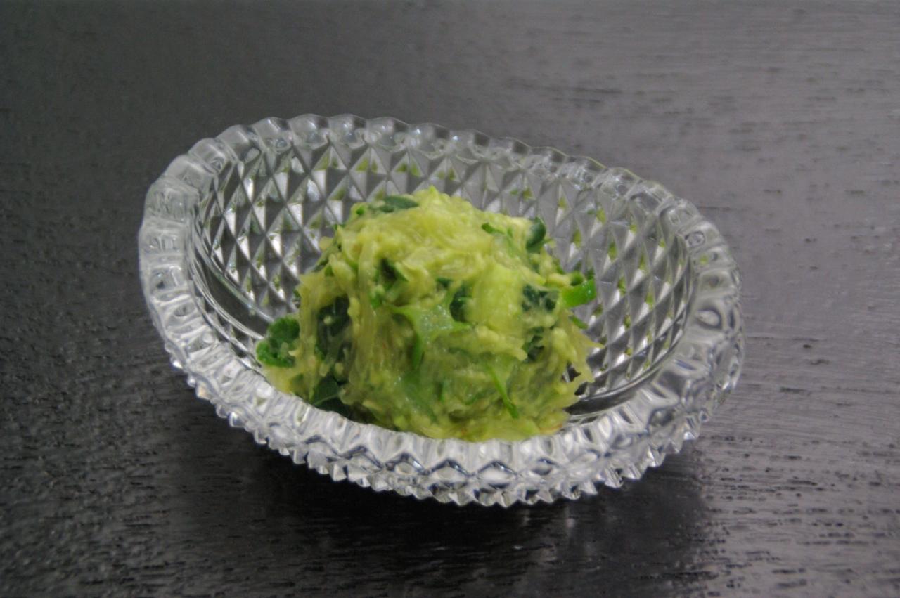 夏のレシピ:夏野菜のアボガド和え